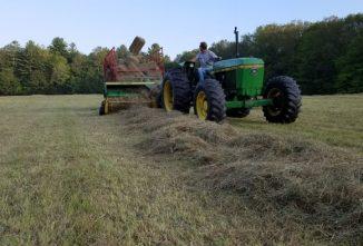 Baling Hay On The Homestead